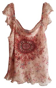 Charlotte Russe Top Nude & Floral