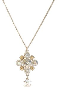 Chanel Crystal CC Pendant Necklace