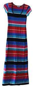 red, pink, blue, white, black Maxi Dress by Derek Heart