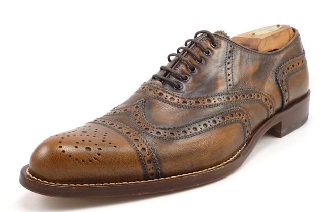 Item - Brown Leather Wingtip Brogue Oxfords Shoes