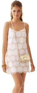 Lilly Pulitzer Gold And Gold Lace Dress