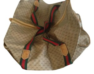 Gucci Brown with green and red handles-Gucci colors Travel Bag