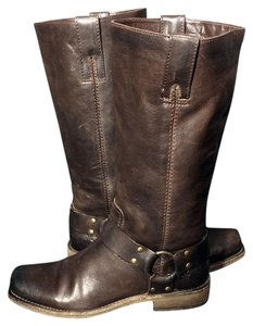 Frye 11324 Harness 6 Motorcycle 6 Size 6 Brown Boots