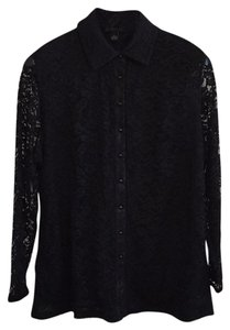 INC International Concepts Top Black lace