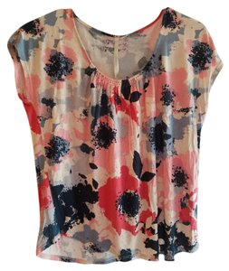 LC Lauren Conrad Top Multi-colored Floral Tye-Dye