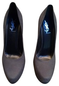 Saint Laurent Ysl Lizard Aliama Tribute Tribtoo Gray Pumps
