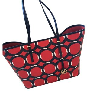 Michael Kors Tote in Navy/Red/Blue