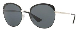 Prada PRADA Black Round Sunglasses PR 54SS Polarized FREE 2 DAY SHIPPING
