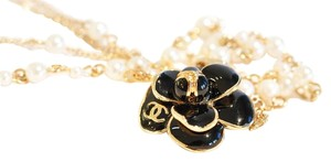 Chanel Camellia Pearl Double Strand necklace