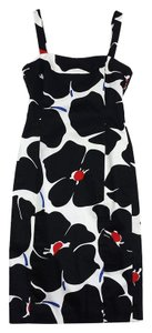 Moschino Black White Floral Cotton Dress