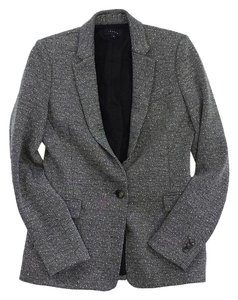 Theory Black White Tweed Jacket
