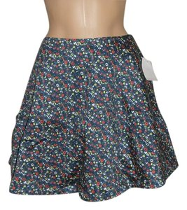 Kate Spade Saturday Mini Floral Mini Skirt Blue