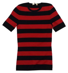 Michael Kors Black Red Striped Sweater