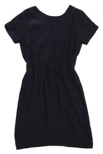 Amanda Uprichard short dress Black Pleated Surplice on Tradesy