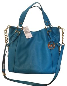 Michael Kors Satchel in Summer Blue (turquoise)