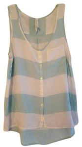 Aéropostale Top White & Powder Blue Stripes