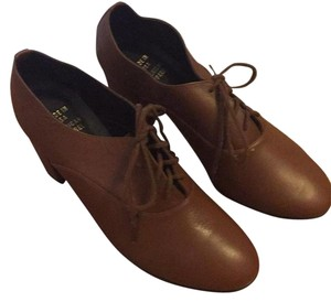 American Apparel Boot Heel Oxford Lace Up Light brown Boots