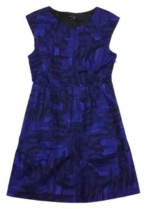 Theory short dress Blue Black Sleeveless Cotton on Tradesy