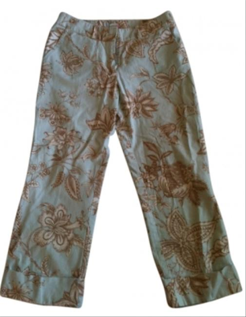 Preload https://item3.tradesy.com/images/molly-b-light-blue-with-tan-and-off-white-print-capris-19122-0-0.jpg?width=400&height=650