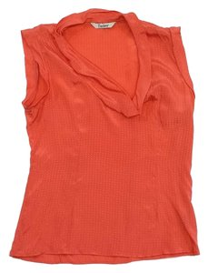 Tucker Salmon Short Sleeve Cowl Neck Top