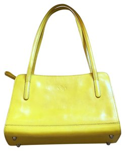 Reserved Monsac Leather Handbag Tote in Yellow