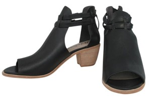 Matisse Cut Out Heel Sandal Cut Out Genuine Leather Peep Toe Black Boots