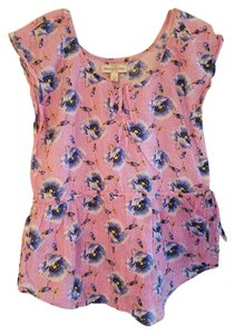 Abercrombie & Fitch Top Pink & Blue Floral