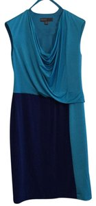 Donna Ricco short dress Two tone: turquozie and blue on Tradesy