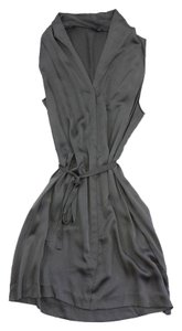 Theory short dress Grey Silk Sleeveless on Tradesy