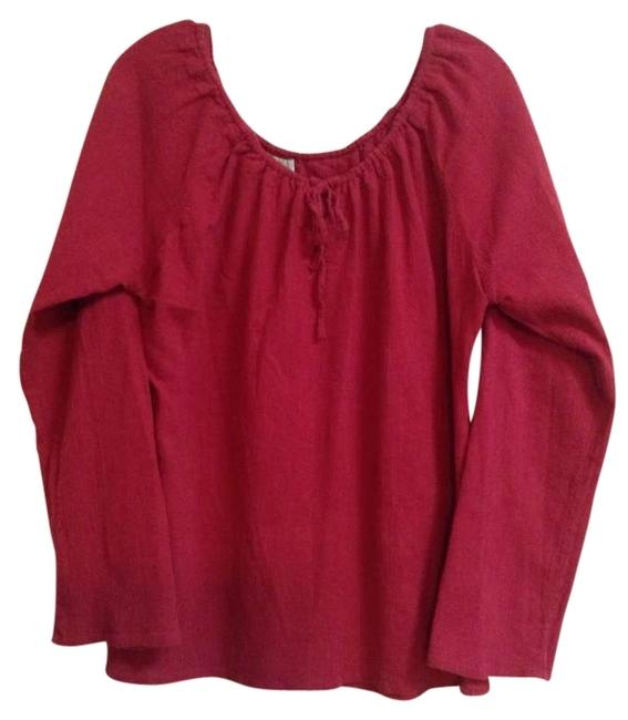 Preload https://img-static.tradesy.com/item/191230/anthropologie-by-odille-l-raspberry-peasant-blouse-size-12-l-0-0-650-650.jpg