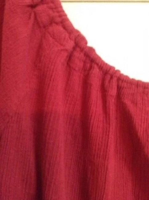 Anthropologie Raspberry Peasant Rn #66170 Top