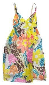 MILLY short dress Multi Color Floral Silk Sleeveless on Tradesy