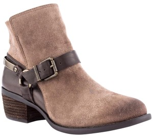Vince Camuto Moto Boot Bootie Tan and Brown Boots