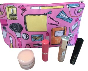 Clinique Clinique cosmetic bag with cosmetics