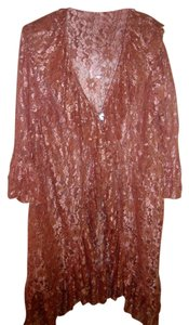 MAGNOLIA PEARL Lace Duster Color Top Peach