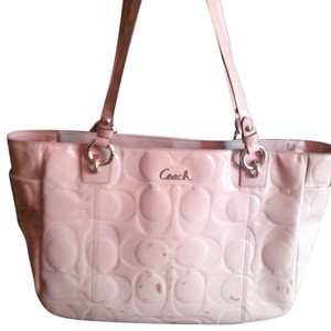 Coach Gray Patent Leather Shoulder Bag