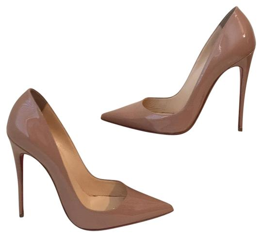 6693d59fa901 Christian Louboutin Beige So Kate Patent Leather 38 Pumps Size US ...
