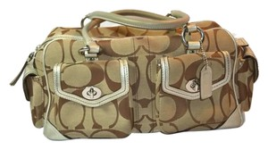 Coach Monogram Signature C Duffle Leather And Fabric Shoulder Bag