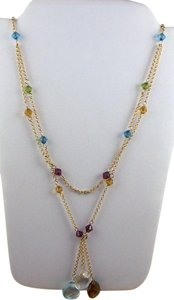 "Victoria Wieck 10K Yellow Gold 17"" Multi-Gemstone Drop Necklace"
