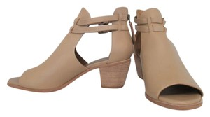 Matisse Cut Out Heel Sandal Peep Toe Ankle Leather Tan Boots