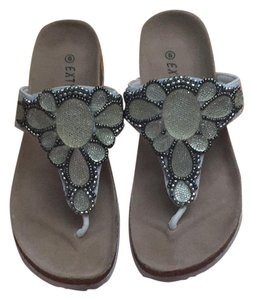 Eddie Marc Clear, silver, beige Sandals
