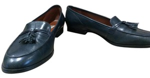 Etienne Aigner Navy Leather Flats