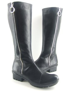 Antelope Black Leather Biker Boots
