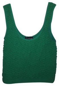 bebe Crop Nylon Spandex Top Green
