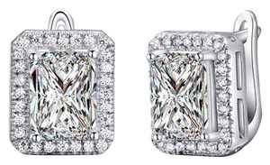 Other Emerald Cut Cubic Zirconia Wedding Engagement Earrings