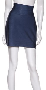 Herv Leger Mini Skirt Blue