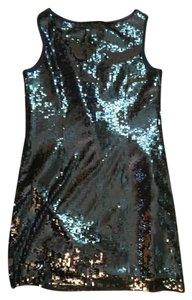 Elie Tahari Sequin Sheath Mini Dress