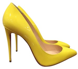 Christian Louboutin Pigalle Follies So Kate yellow Pumps