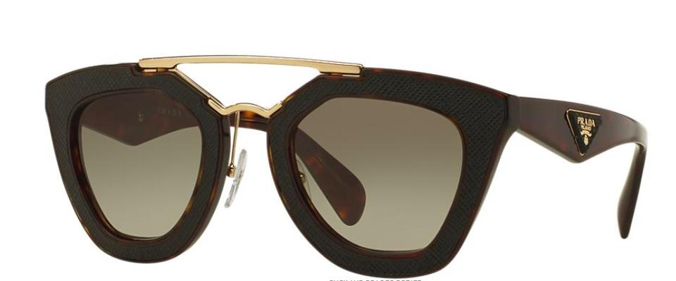 0ff017f5f296 Prada Havana and Brown Saffiano Leather with Gold Trim and Gradient ...