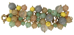 J.Crew J.Crew Bauble Bracelet with Gold Butterflies